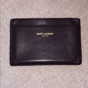 Saint Laurent Card Holder Wallet Bordeaux